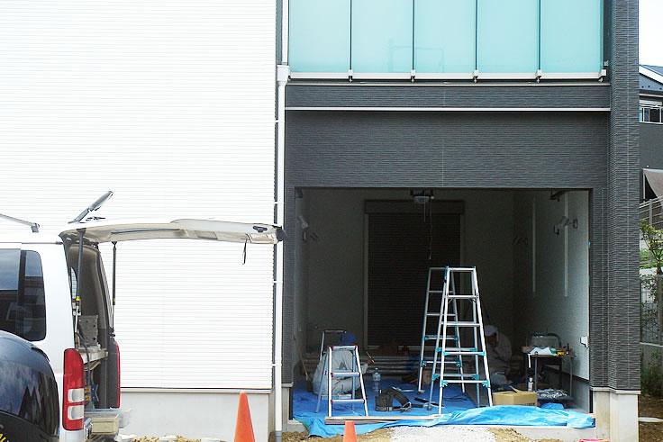 ビルトインガレージ工事/着工183日目